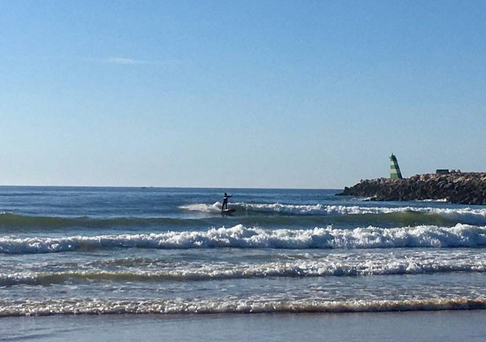 Meia Praia surfing