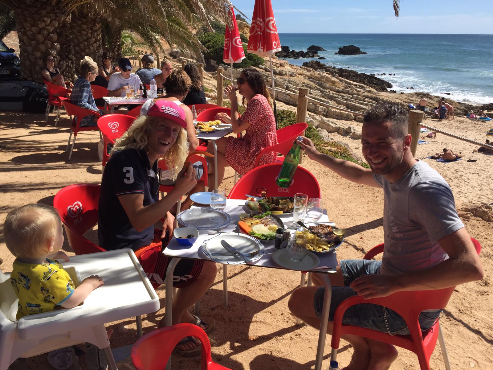 surf lunch with a view