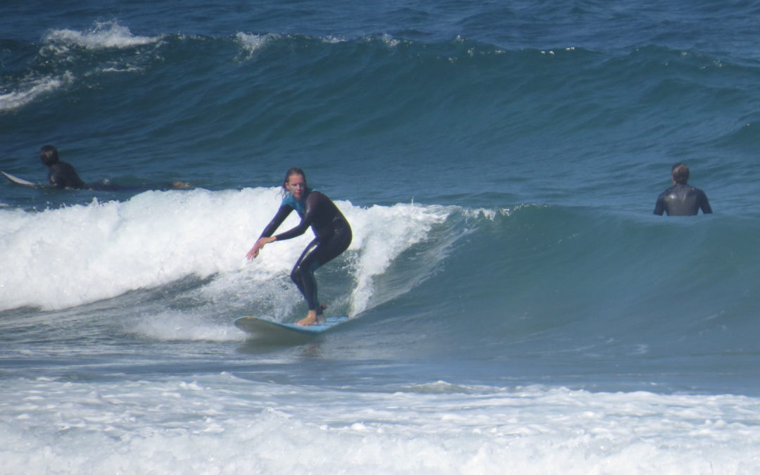 Classic summer surf in amado