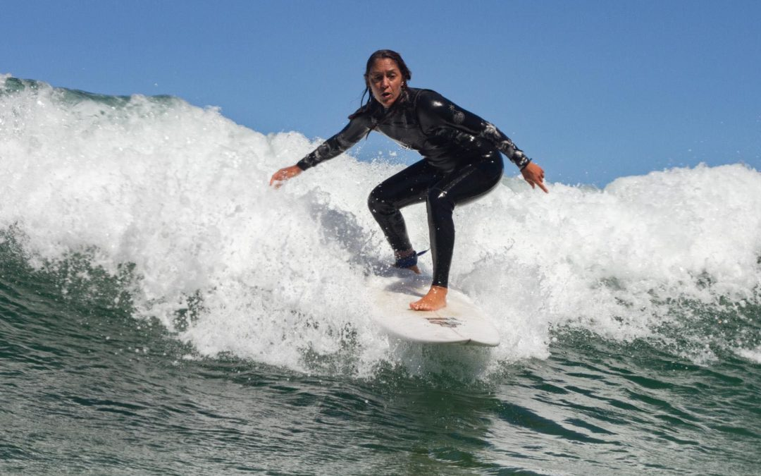 Summer waves in Amado with no one out,