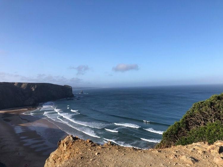arrifana surf beach view