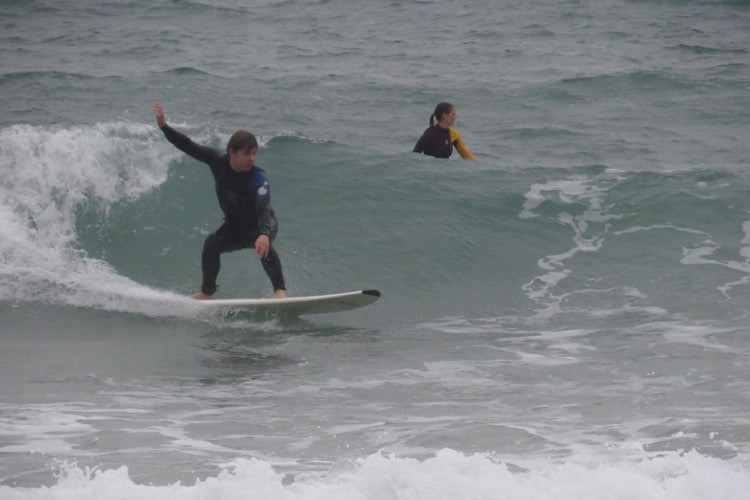 Surf in the rain at beliche