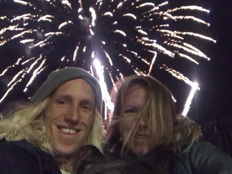 Celebrating Newyear with surf in Tonel
