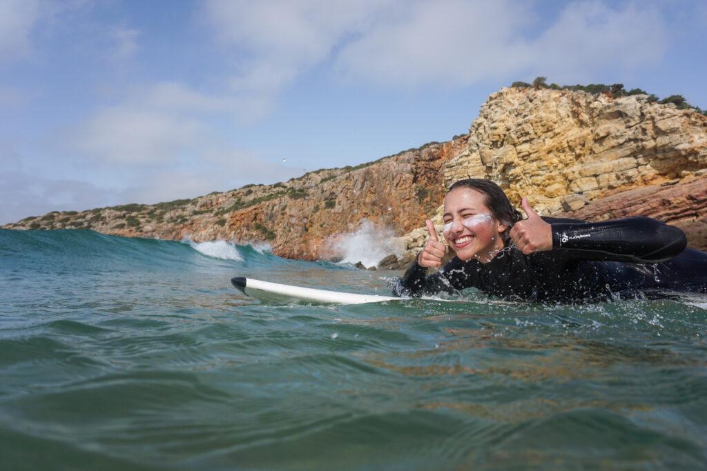 surfguide algarve surfgirl stoked shot massimo