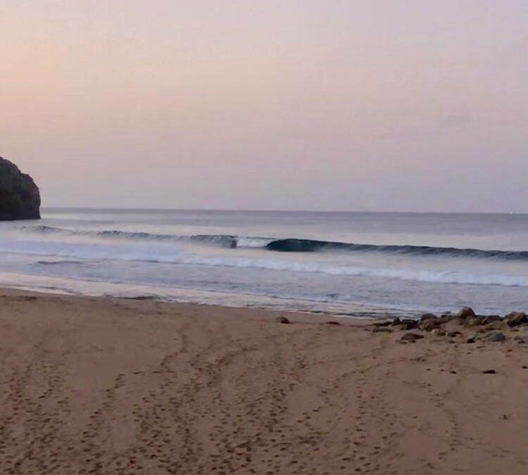 Zavial perfect morning surf guide session