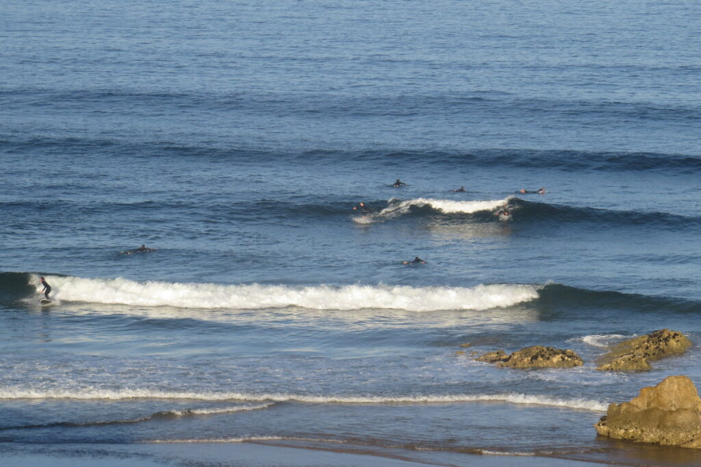 swell-lines-and-surfers-tonel-sagres-surfguide-algarve