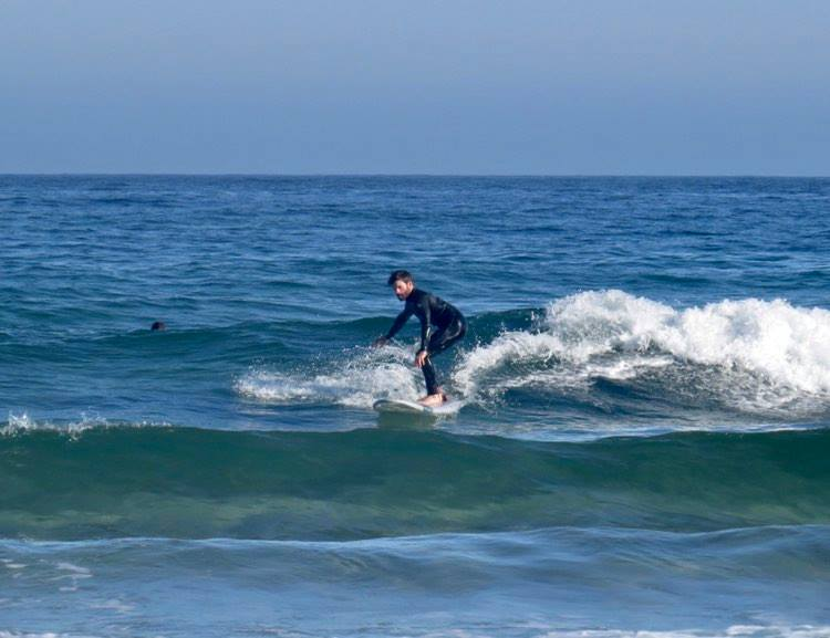 foamy surf guide session at Bordeira